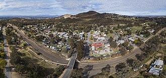 Glenrowan, Victoria - Aerial panorama of Glenrowan