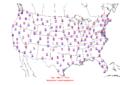 2006-01-26 Max-min Temperature Map NOAA.png