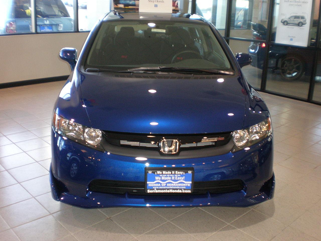 File 2008 Blue Honda Civic Mugen Si Sedan Front Jpg Wikimedia Commons