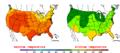 2009-07-24 Color Max-min Temperature Map NOAA.png
