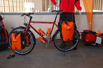 Pannier - Modern waterproof bicycle touring panniers, Berlin, 2009