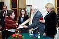 2010 Likhachev Foundation Prize ceremony - Alexander Kobak, Marina Zemlyanichenko, Julia Malinina, Daniil Granin and Alla Manilova.jpg