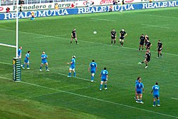 2012-11-17 ITA-NZL Aaron Cruden penalty (cropped).jpg