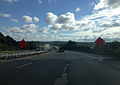 2014-08-28 09 45 30 View north along Interstate 787 near milepost 0.7 in Albany, New York.JPG