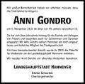 2014-11-18 Anni Gondro Traueranzeige Cellesche Zeitung Oberbürgermeister Stefan Schostok Hannover.jpg