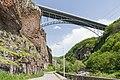 2014 Prowincja Wajoc Dzor, Dżermuk, Most nad kanionem rzeki Arpa (02).jpg
