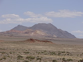 Topog Peak - Image: 2015 04 18 12 57 42 View of Topog Peak from the dirt road along the north edge of the Carson Sink in Churchill County, Nevada