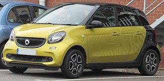 Smart Forfour - Image: 2015 Smart Forfour Prime Premium T 900cc