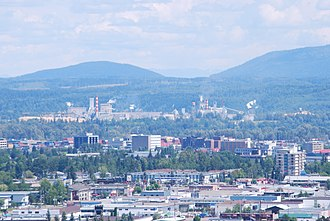 Prince George, British Columbia - Downtown Prince George as seen from University Way.