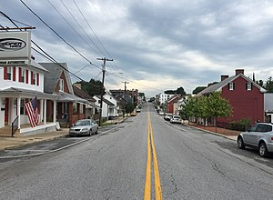 Smithsburg, Maryland - Image: 2016 07 28 17 05 54 View south along Maryland State Route 66 (Water Street) at Pennsylvania Avenue in Smithsburg, Washington County, Maryland