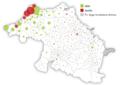 2016ko Euskal Hirigune Elkargoa sortzeko galdeketen emaitzak udalerrika (sinbolo proportzionalen mapa).png