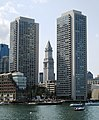 2017 Harbor Towers and Custom House Tower from Boston Harbor.jpg