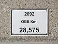 2018-03-22 (207) Railway km sign in Bahnhof Langenlebarn.jpg
