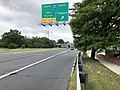 2019-08-14 10 44 13 View west along U.S. Route 40 (Baltimore National Pike) at the exit for Interstate 695 NORTH (Towson) on the edge of Woodlawn and Catonsville in Baltimore County, Maryland.jpg
