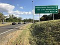 2019-09-17 16 35 40 View south along Virginia State Route 110 (Richmond Highway) at the exit for Netherlands Carillon-Iwo Jima Memorial-Fort Myer in Arlington County, Virginia.jpg