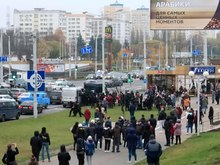 Archivo:2020 Belarusian protests, Minsk, 15 November v7.webm