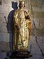 268 Aigues-Mortes Egise Notre-Dame-des-Sablons Statue de saint Louis.JPG
