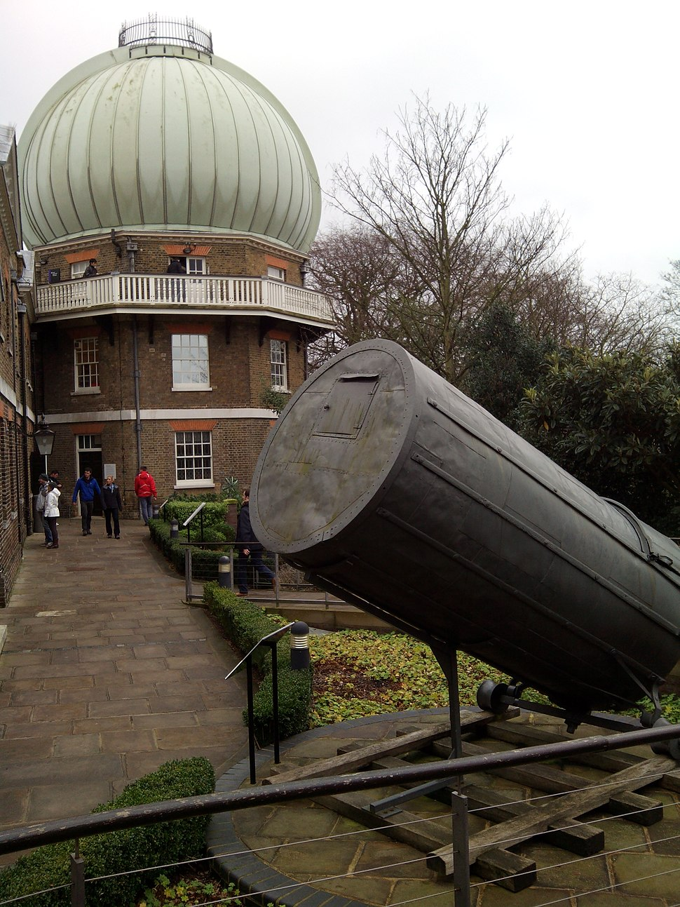 28-inch telescope and 40-foot telescope, Royal Observatory, Greenwich, London, UK, 2015