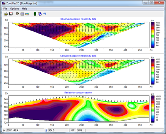 Electrical resistivity tomography - 2D resistivity inversion of ERT data