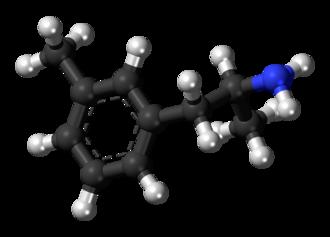 3-Methylamphetamine - Image: 3 Methylamphetamine molecule ball