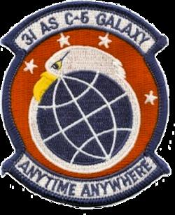 31st Airlift Squadron - AMC - Emblem.png