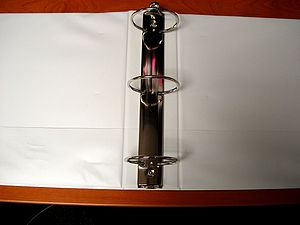 3 ring binder (opened)