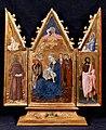 4 Madonna dell'Umiltà e angeli (al centro), Annunciazione, San Francesco e San Giovanni battista 1435-38, Siena, Collezione Chigi Saracini.jpg