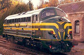 La locomotive 5404, préservée au patrimoine historique de la SNCB