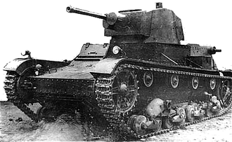 Battle of Tomaszów Lubelski - A Polish 7TP tank; 22 of these tanks participated in the battle.