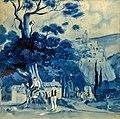 81 - Paysage espagnol - Georges Gaudion - Gouache sur papier - Musée du Pays rabastinois - inv.D.2014.12.1.jpg