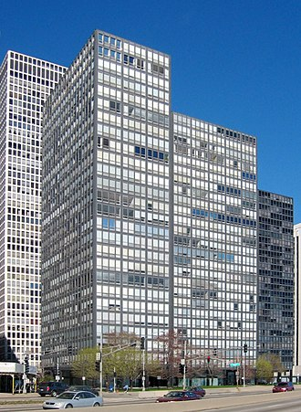 High-tech architecture - 860–880 Lake Shore Drive Apartments, completed 1951, Chicago