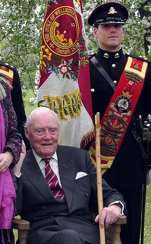 Valerian Wellesley, 8th Duke of Wellington - The Duke of Wellington  at Battlesbury Barracks, May 2006.