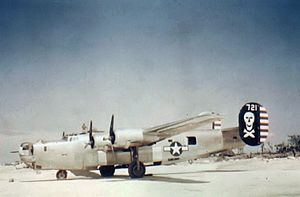 90th Operations Group - B-24J with the distinct nose turret, probably in 1944.