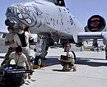 A-10 Thunderbolt II at Bagram Airfield Afghanistan on April 6 2012.jpg