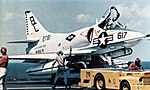 A-4B of VA-216 on USS Saratoga (CVA-60) 1967.jpg