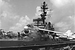 A-7E Corsair II of VA-146 is launched from USS Constellation (CVA-64) off Vietnam on 25 April 1972 (USN 1151651).jpg