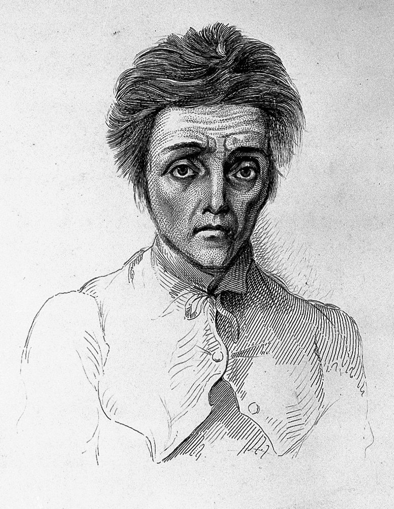 """A. Morison """"Physiognomy of mental diseases"""", cases Wellcome L0022722 (cropped)"""