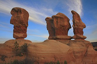 Devil's Garden (Grand Staircase-Escalante National Monument) - The four hoodoos
