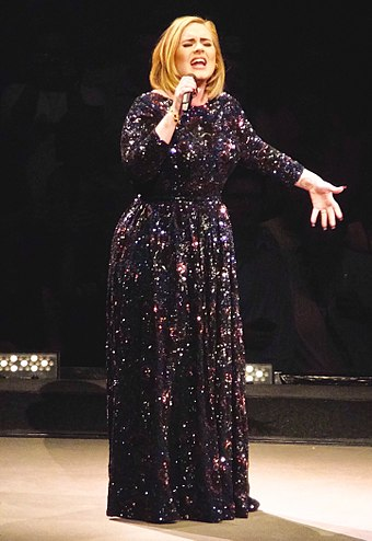 Adele singing in St. Paul during her first North American tour in five years in July 2016. Ten million people tried to buy tickets for the North American leg of Adele's world tour. Only 750,000 tickets were available. ADELE LIVE 2016 - HELLO - ST.PAUL - night 1 - Copy.jpg