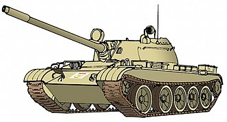 Uganda People's Defence Force - Artist's rendition of a Ugandan T-55 tank, serving in AMISOM