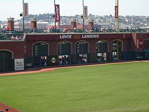 AT&T Park - The 24-foot (7.3 m) high wall in right field