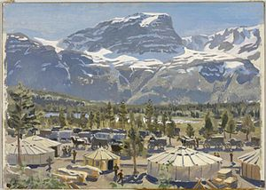 Stephen Bone - A British Camp near Skibotn (Art.IWM ARTLD 5336)