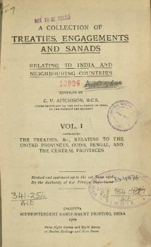 A Collection of Treaties, Engagements and Sanads relating to India and Neighbouring Countries Vol 1.djvu