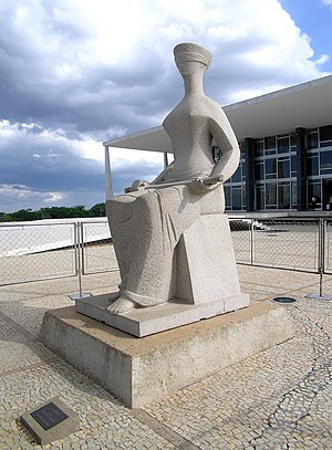 Supreme Federal Court - The Justice, by Alfredo Ceschiatti in front of the Supreme Federal Court