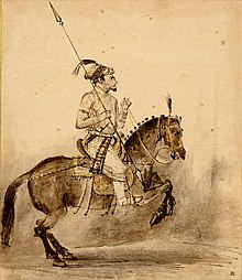 An Equestrian Mughal Nobleman On Horseback