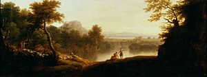 George Lambert (English painter) - A Pastoral Landscape with Shepherds and their Flocks (1744)