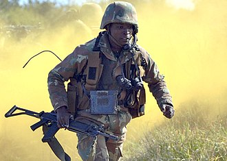 Soldier - A South African soldier on an exercise in 2013