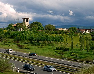 Abetxuko - The village of Abetxuko is located on a hill, next to the current highway A-1.