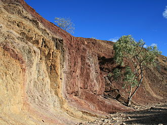 Earth pigment - A range of pigments were mined by Indigenous Australians at this Ochre Pit in central Australia.