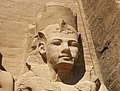 Abu Simbel temple left guard face.jpg